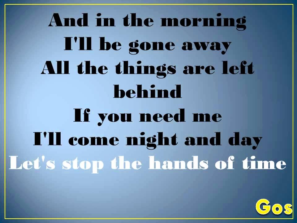 Lyric come away with me lyrics : Karaoke Saigon Kick love is on the way - YouTube