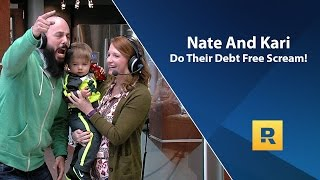 Nate and Kari Do Their Debt Free Scream!