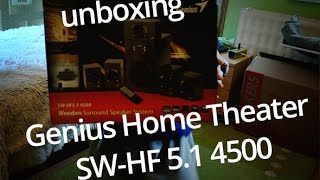 Slovenský UNBOXING Genius Home Theater SW HF 5 1 4500