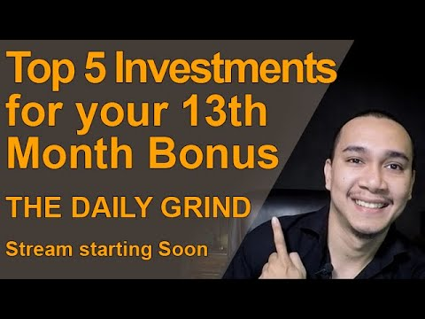 TOP 5 PASSIVE INCOME INVESTMENTS FOR YOUR 13TH MONTH BONUS