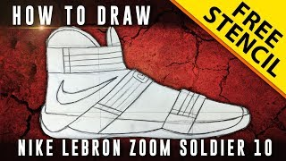 How To Draw: Nike Lebron Zoom Soldier 10
