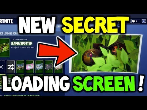 How To Get New Secret Free Loading Screen Llama Spotted