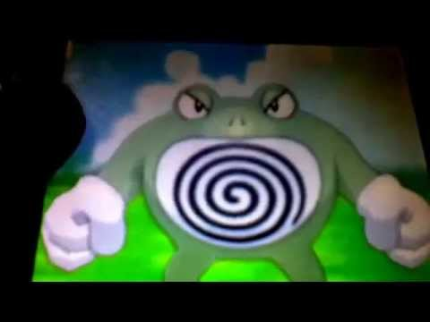 shiny poliwhirl caught in 51 fishing chain and evolving