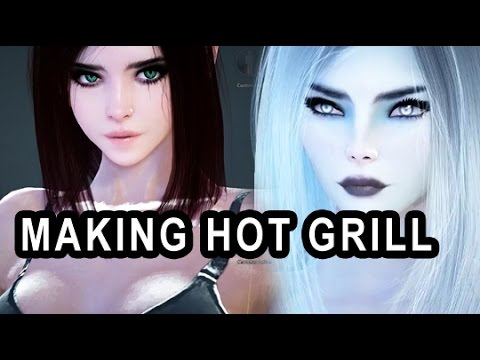 making the hottest character in black desert dark knight youtube