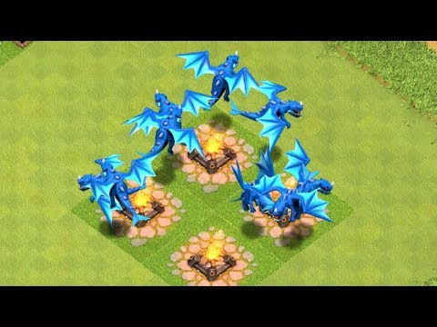 "ALL ELECTRIC DRAGON RAID "" clash of clans"" NEW UPDATE!"