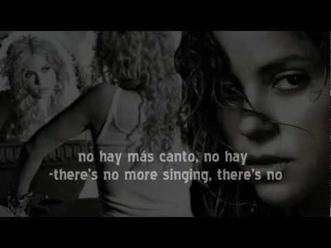 Shakira -Despedida - English & Spanish Lyrics. Music by Antonio Pinto