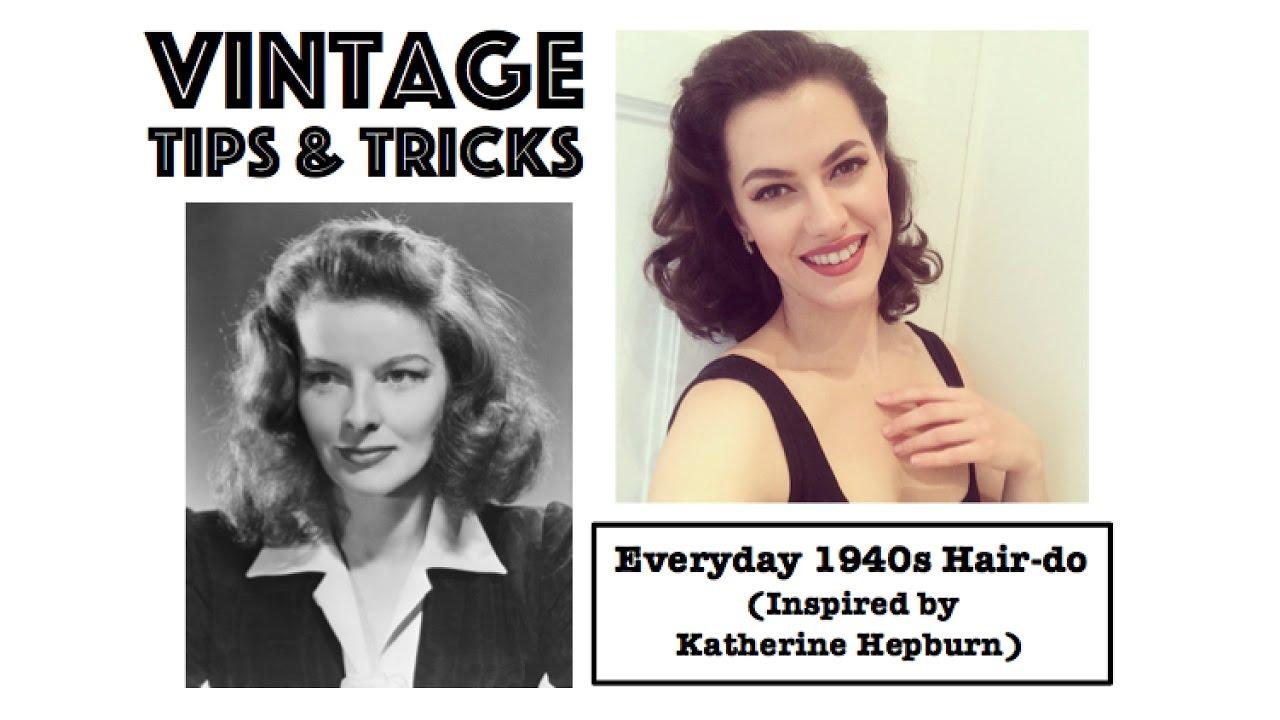 Easy Everyday 1940s Hairstyle Inspired By Katharine Hepburn