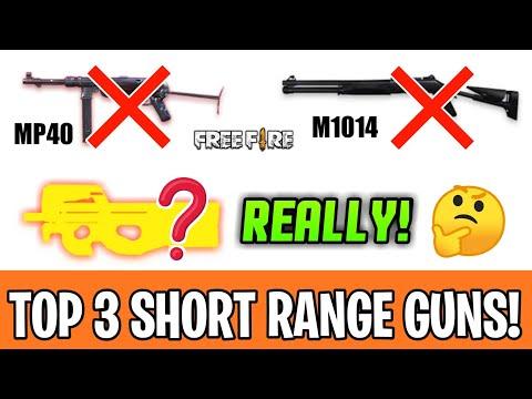 TOP 3 BEST SHORT RANGE GUNS OF FREEFIRE | VERY POWERFUL + ACCURATE CLOSER RANGE WEAPONS FREEFIRE