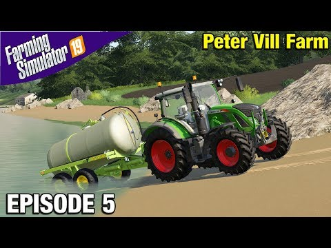 WE GET SOME SHEEP Farming Simulator 19 Timelapse - Peter Vill Farm FS19 Episode 5