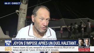 """""""Ça a été une aventure énorme depuis dimanche dernier"""", Francis Joyon remporte la Route du Rhum"""