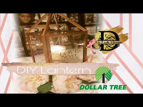 DOLLAR TREE DIY | FALL LANTERN