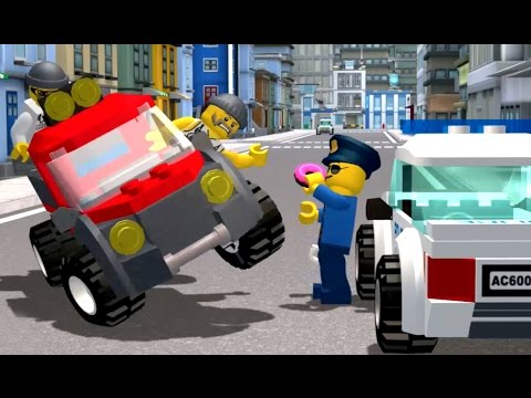 👮🚔 Полицейская Погоня - Детская Игра про Лего Полицию - Видео про Машинки для Детей