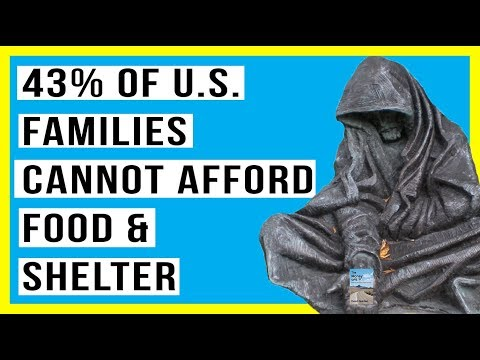 51 Million U.S. Households Can't Afford Food and Shelter! 43% of Families Can't Pay Their Bills!
