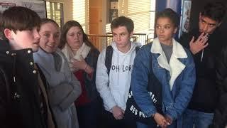 Une délégation de 9 lycéens ont étaient reçus par la directrice académique de la Charente