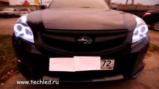 Subaru Legacy 2010. Led headlights(Светодиодный тюнинг фар Subaru Legacy от Студии LedTechnology. Установлены светодиодные кольца и светодиодные модули..., 2010-10-26T20:01:08.000Z)
