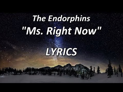The Endorphins - Ms. Right Now - LYRICS