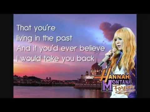 Hannah Montana   Que Sera Lyrics In The Screen HD