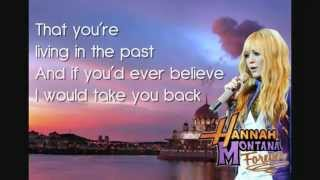 Hannah Montana   Que Sera Lyrics In the Screen HD