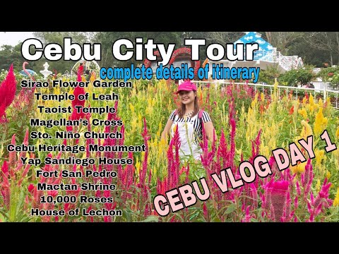 CEBU VLOG DAY 1: Cebu City Tour | Magellan's Cross, Sto. Niño Church , Temple of Leah and more!