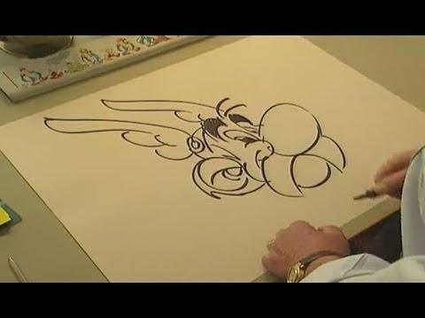 Uderzo Drawing Astérix Characters