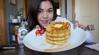MAKE & EAT WAḞFLES WITH ME!! | Steph Pappas