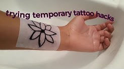 trying a temporary tattoo hack!