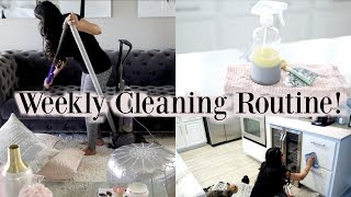 My Weekly Cleaning Schedule Routine! MissLizHeart