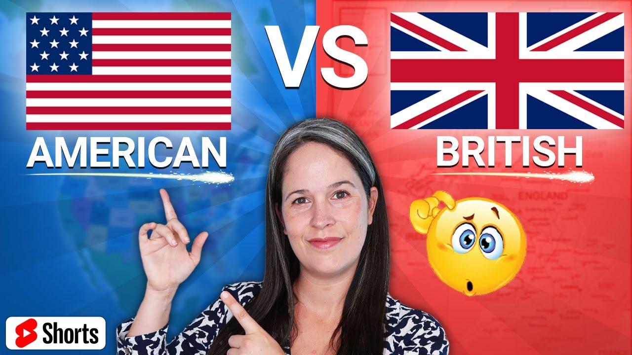"AMERICAN vs BRITISH:  ""CAN"" #SHORTS"