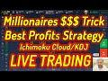 Top Secret Strategy Best Combination For Profits  Live Trading Momentum Binary Options Iq 100%Win