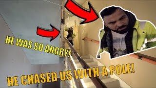 ANGRY SECURITY CHASED US WITH A POLE! *They knew who I was*