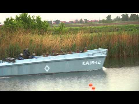 WW2 Marines Combat Training Day with Higgins Boat