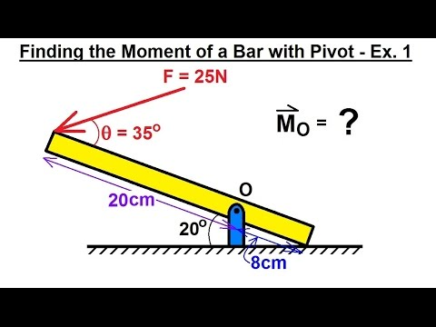 Mechanical Engineering: Rigid Bodies & Sys of Forces (15 of 47) Moments (Bar with Pivot)