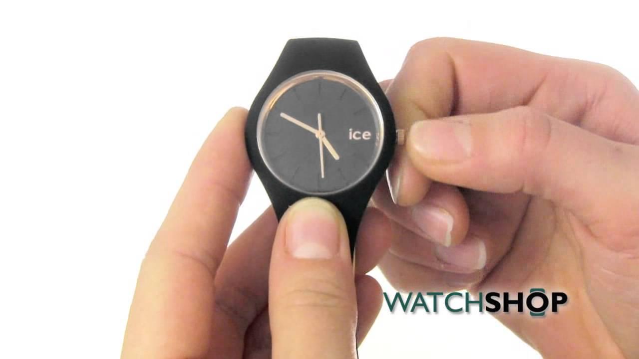 arrive grande qualité vente chaude en ligne Ice-Watch Ladies' ice Glam Rose Gold black small Watch (ICE.GL.BRG.S.S.14)