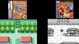 Pokemon Red vs Pokemon Fire Red side by side comparison