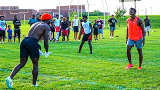 PLAYING 7ON7 AGAINST TYŔEEK HILL! (HE HAD NFL PLAYERS ON HIS TEAM) FT. B-LOU