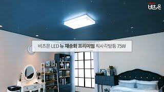 비츠온 LED 뉴 채송화 프리미엄 직사각방등 75W