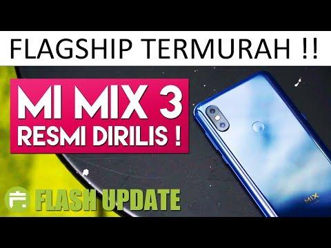 7,2JUTAAN!! XIAOMI MI MIX 3 INDONESIA RESMI DIRILIS !! Harga & Spesifikasi Official #FlashUpdate