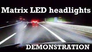 Matrix LED headlight demonstration | Range Rover Velar [4K]