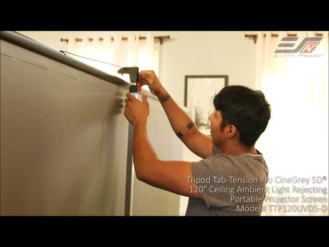 Elite ProAV Tripod Tab-Tension Pro CineGrey 5D® - Screen Setup and Takedown