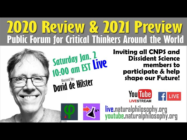 Live: 2020 Review & 2021 Preview for Critical Thinkers in Science