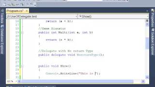 C#: How to Create and Use Delegate - Tutorial 11