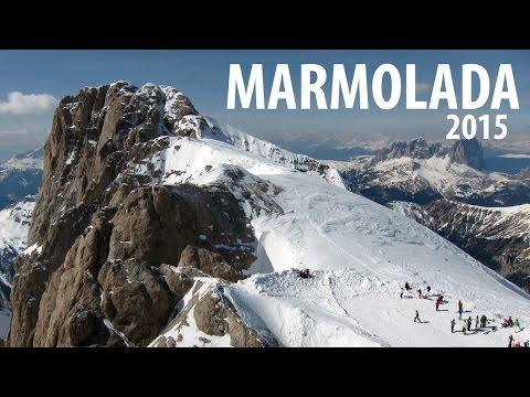 Dolomiti 2015 (2) Ski Descent of Marmolada to Malga Ciapela with Small Kids