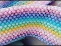 KOLAY ANLATIMLI POPCORN- BONİBON-FISTIK DOLGULU BATTANİYE YAPIMI (How to crochet the bobble stitch)