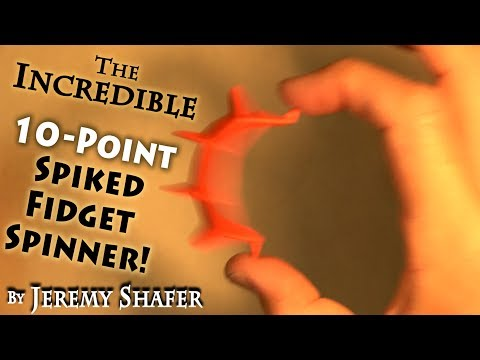 10-Point Spiked Fidget Spinner -- NO BEARINGS!