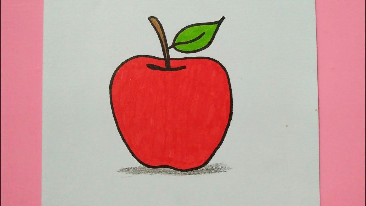 Apel Mari Belajar Menggambar Dan Mewarnai Buah Apel