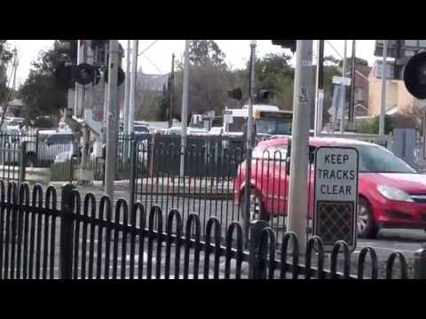Oaklands Railway Level Crossing rush period congestion Greater Adelaide Aug 2016 Video