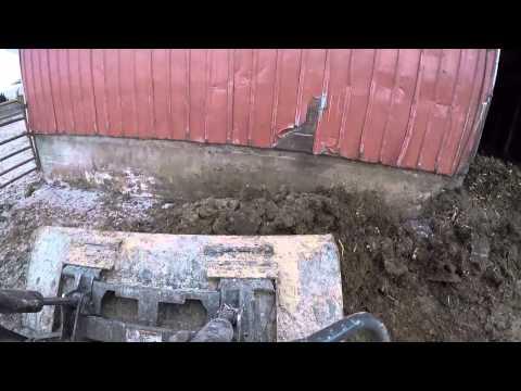 Cleaning Yard w/ NH Skid Steer