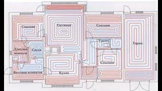 3 Как сделать схему раскладки контура теплого пола