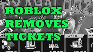 Roblox Removes Tickets! (Discussion)