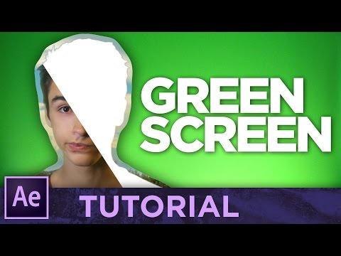 GREEN SCREEN • After Effects Tutorial [Chroma Key]